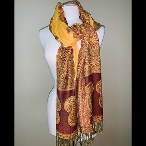 Accessories - BRAND NEW PASHMINA GOLD/BURGUNDY COLOR